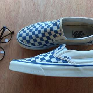 VANS Checkerboard Slip On (Blue)