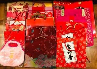 Assortment of festive bags