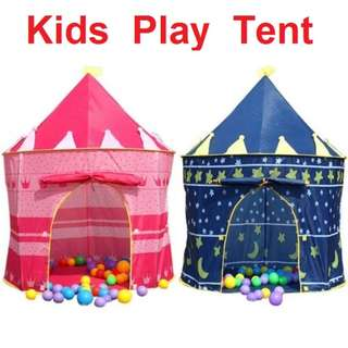 Portable House Hut Play Kids Childrens Play Tent Castle House