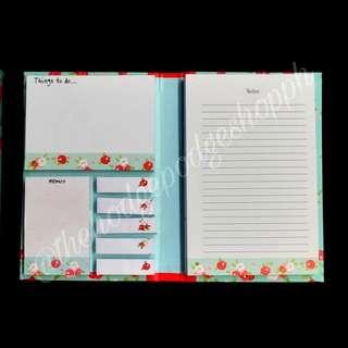 Floral Sticky Notes Folder