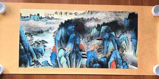 Exquisite hand painted Chinese landscape