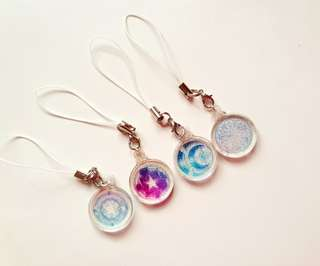 Handmade galaxy charms