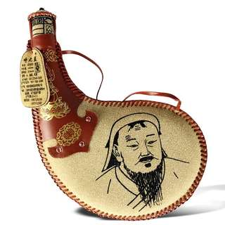 38°China Mongolia Pu Leather Wine 蒙古马奶酒