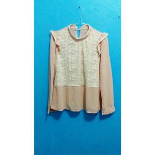 Blouse mix brukat