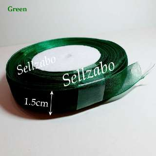 Green 1.5cm Width Ribbons For Gift Presents Wrapping Decoration Colour Arts Craft Length 45m Lace Sellzabo