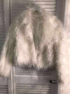 White Soft shag Jacket