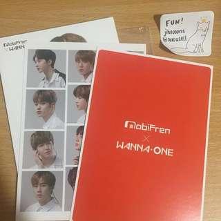 Wanna One Mobifren Postcard Set + Sticker Sheet
