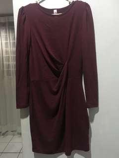 BN maroon bodycon dress