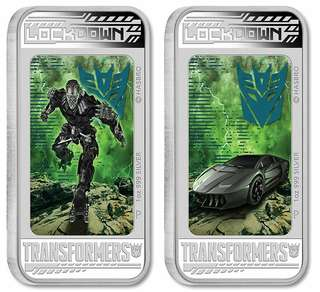 Transformers:Age of Extinction Silver Lenticular Coins.Year 2014 full set