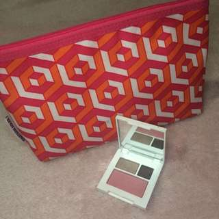 Clinique Eyeshadow and Blush + Pouch