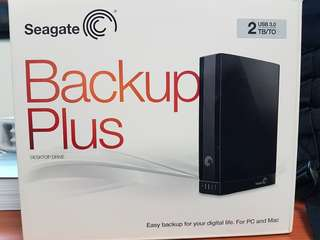 Seagate backup plus 2TB usb 3