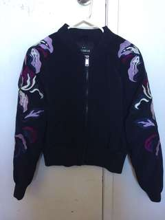 Printed style bomber size 8-10