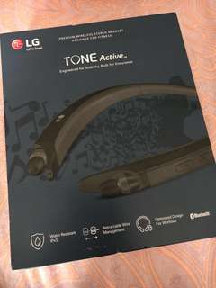 LG Tone Active Wireless Neck Band Earphone for Sports (HBS-A80)