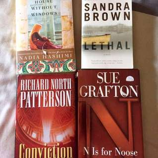 Various Fiction novels