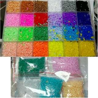 2.6mm 豆豆拼 24色套裝+5包1000顆補色