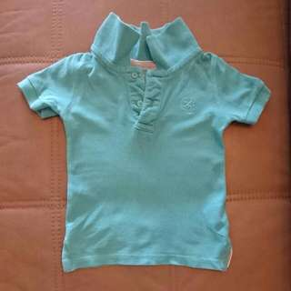 Cotton On Kids Boy Polo Collar Tee Turquoise 1/3 Years