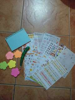 19 pcs Pre-Loved Sticker, Notes and Sticky Notes