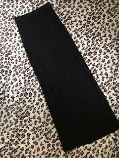 Sexy black long skirt with side slit by forever21