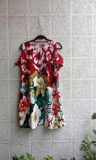Plus sized floral dress; 2XL