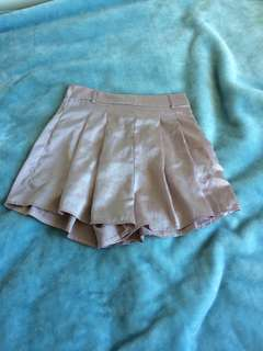 Satin high waisted shorts, size 8