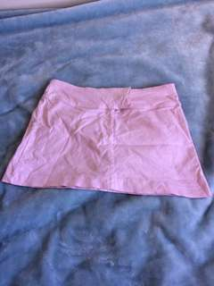 Pink mini skirt size 8