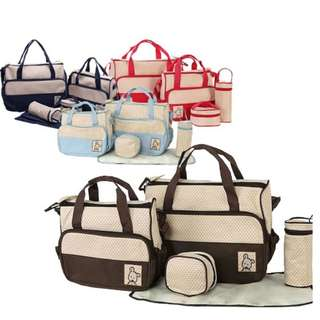 5 in 1 Mommy Baby Essential Diaper Bag