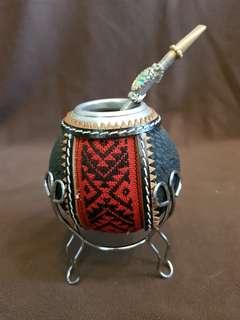 🚚 阿根廷瑪黛茶手工編織擺飾杯-b
