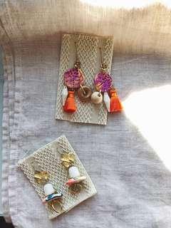 手作黃銅耳環 handmade gypsy vintage brass Earrings