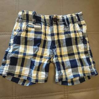 Cotton On Kids Boy Checkered Shorts 1/4 Years