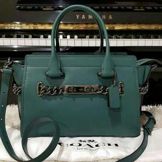 COACH SWAGGER 27 DARK TURQUOISE