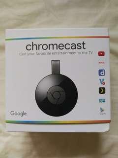 Brand new Google Chromecast black