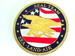 Exquisite Navy Seal Gold plated Coin
