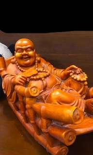 Laughing Budda On Rocking Chair