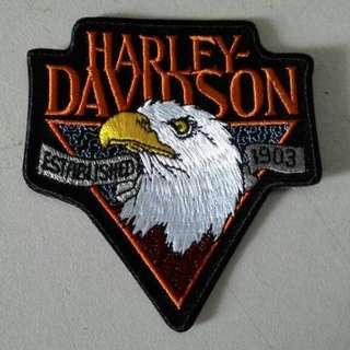 Bordir Harley Eagle 1903 Logo.10x5