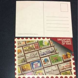 Postcard (unused) - Singapore Stamps of 1985 X 2 Post Cards (Each $2.5 or both for $4)