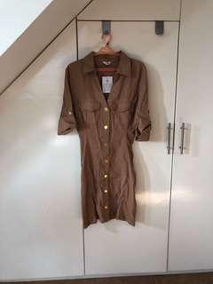 Guess Brown Button Down Dress