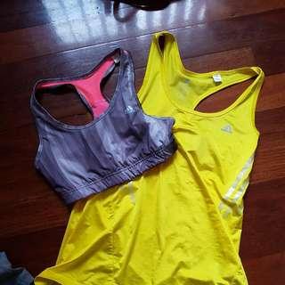 Adidas singlet and crop set