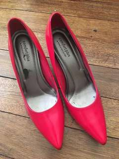 Payless Comfort Plus Red Stilleto Heels Size 8