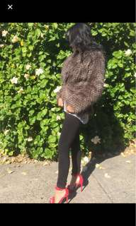 Bardot faux fur coat