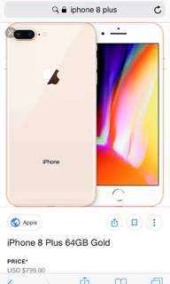 Looking for Iphone 8 Plus to swap with Iphone8