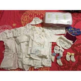 13件 初生BB 0-6個月 Mides 出院套裝 全套 內衣 外衣 帽仔 襪仔 口水堅 肚圍