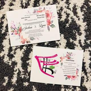 Textured Invitation Cards