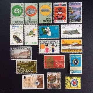 香港郵票 已蓋銷票 18枚