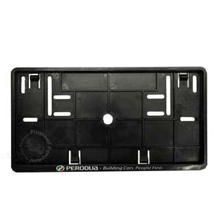 PERODUA REAR NUMBER PLATE CASING (BLACK)
