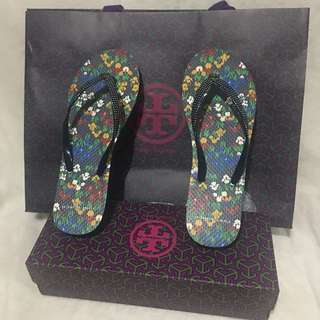 Authentic tory burch flip flop