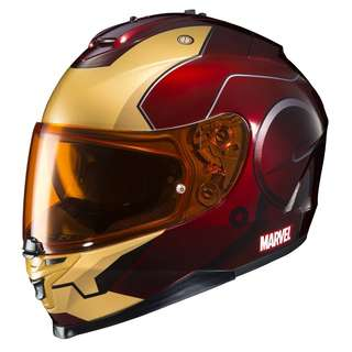 HJC Marvel IS-17 SIZE MEDIUM ONLY Adult Full Face IRONMAN Street Motorbike Motorcycle Helmet Red Yellow