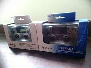 PS4 Dualshock 4 controllers - 20th Anniversary & Steel Black version 1