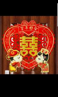 2 Wedding xi stickers big on doors