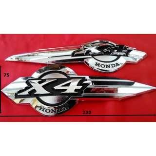 Emblem Chrome Motor Honda X4 CB 1300