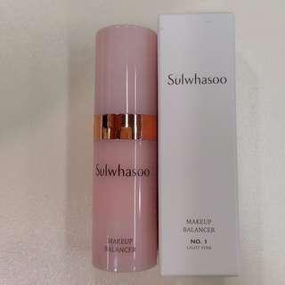 [試用裝] [Sample] Sulwhasoo 雪花秀 Makeup Balancer No.1 : Light Pink 彩妝平衡煥膚精華液 顏色: No.1 淺粉紅色 4ml 試用裝 有2支, $25一支 [全新]